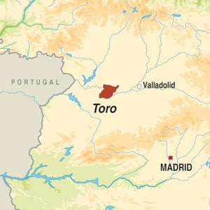 Map showing Toro DO