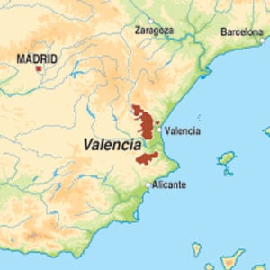 Map showing Vino Blanco